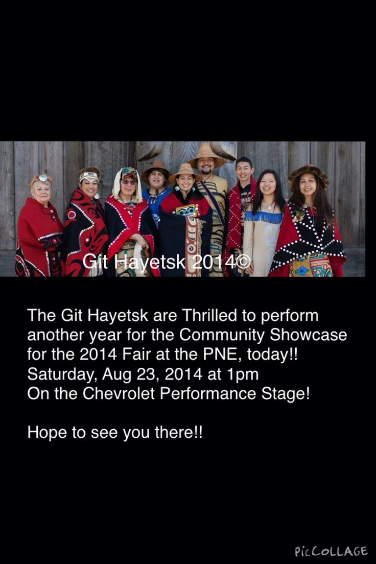 The Git Hayetsk are Thrilled to perform another year for the Community Showcase for the 2014 Fair at the PNE, today!!  Saturday, Aug 23, 2014 at 1pm On the Chevrolet Performance Stage!   Hope to see you there!!  #alaskanative #aboriginal #bcfirstnations #dance  #firstnations #githayetsk #nisgaa #tsimshian #gitxsan #haida #haisla #tahltan #tlingit #musqueam #mikedangeli #miqueldangeli #vancity #vancouver #vancouver_bc #westcoast #westcoastdance #pne @githayetsk @mikedangeli @miqueldangeli