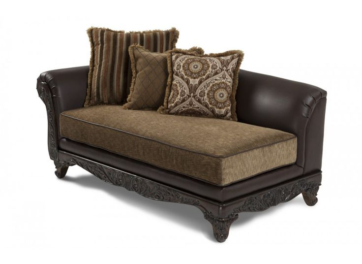 1000 images about chaises on pinterest upholstery for Bellagio button tufted leather brown chaise