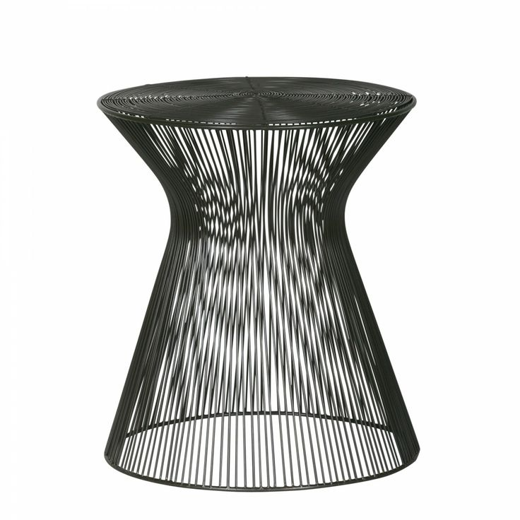 The airy linear form of the Goa Table punctuates a space without hiding it. Providing a visual lightness as well as a physical one, the Goa features a simple waisted profile and open wire weave in a rich chocolate finish. Mix and match with other pieces from the Goa Collection for a fun, contemporary look.
