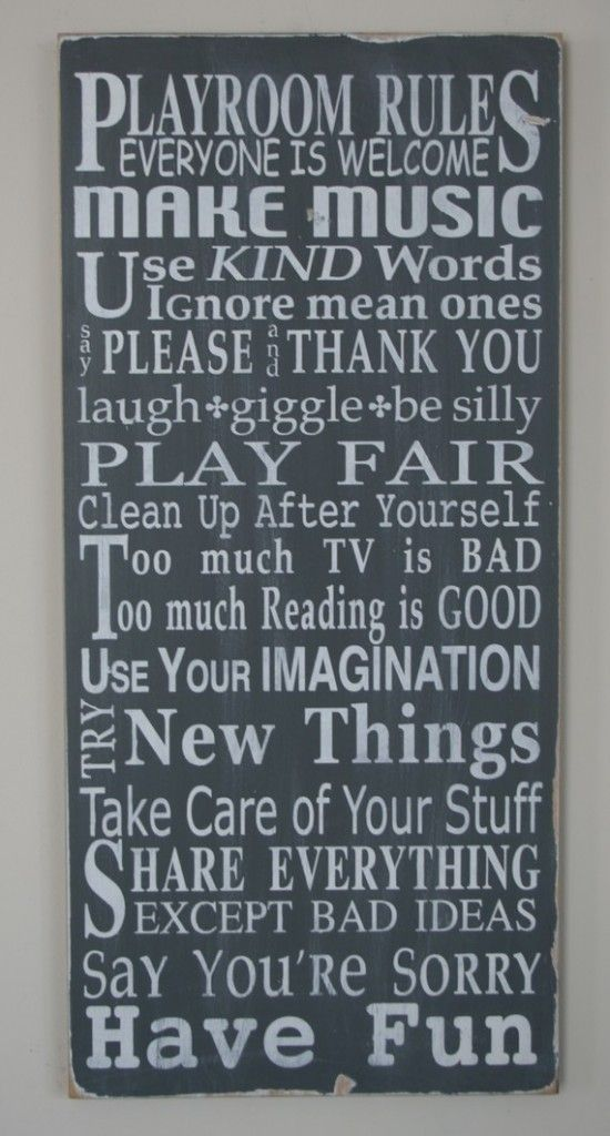More Playroom Signs