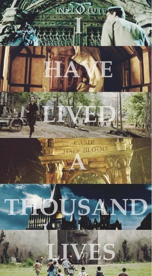 The Mortal Instruments, Chronicles of Narnia, Hunger Games, Percy Jackson, Harry Potter, Maze Runner