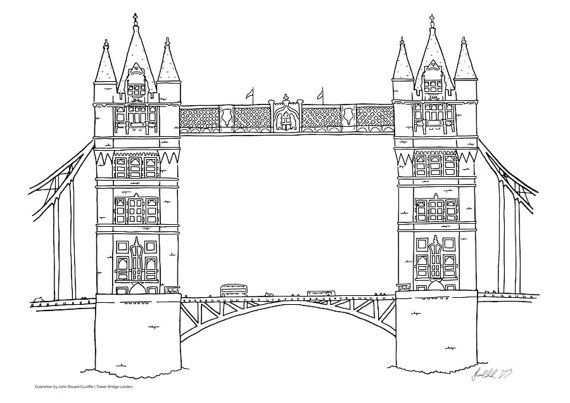 Poster with Tower Bridge London print by