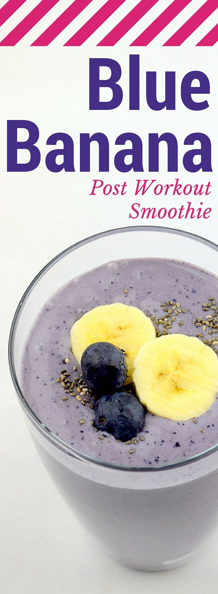 Blue Banana Post Workout Smoothie || From Blenditup.com
