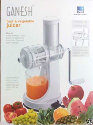 Ganesh Fruit & Vegetable Juicer | Fruit Juicer | With Still Handle | Hand Juice