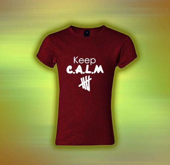 5SOS 5second Of Summer Keep C Custom Tshirt by laskarspelangi, $17.88