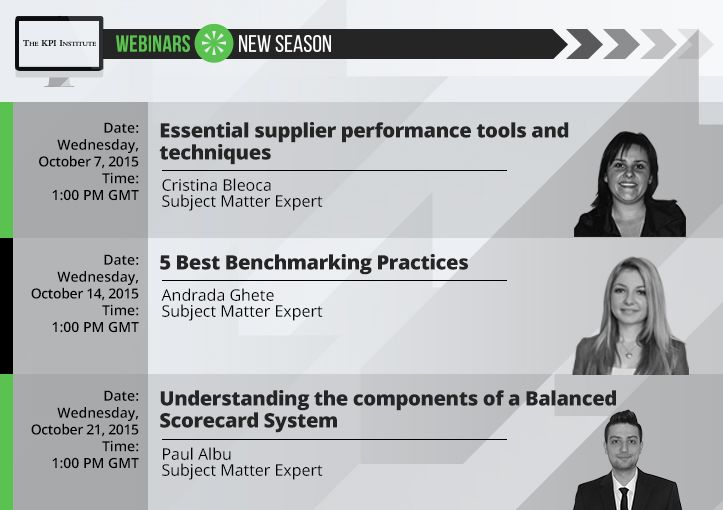 Free registration for all upcoming webinars - sign up now and start your learning experience with the KPI Institute! http://bit.ly/Upcoming-webinars