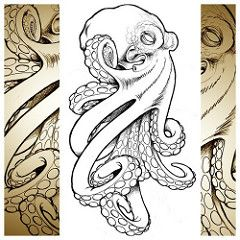 cool octopus I whipped up for a client. #tattoo #technique #techniqueone #octopus #drawing #sketch #metamorphtattoo | Flickr - Photo Sharing!