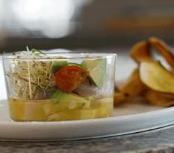 How to make Ceviche! @ the Riu Palace Hotel Recipe Video by Kravings Blog | ifood.tv