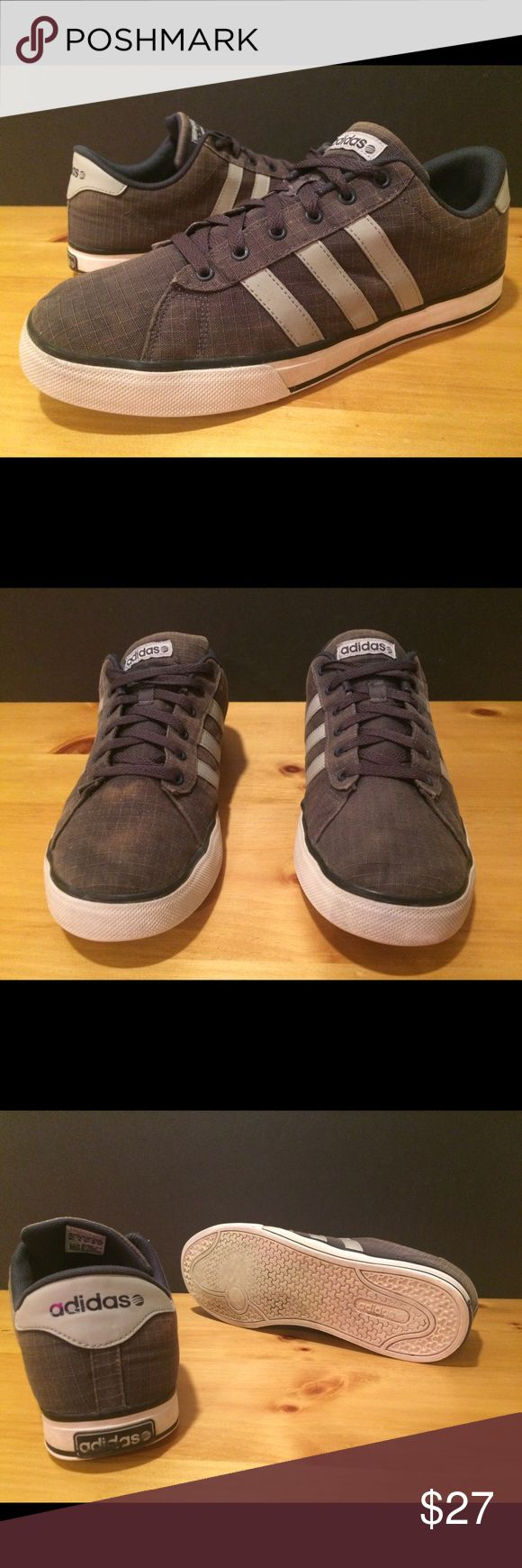 Men's Size 10.5 Gray & Blue Adidas Shoes Men's size 10.5 blue & gray Adidas shoes. See photos and please message with any questions! :) Adidas Shoes Sneakers