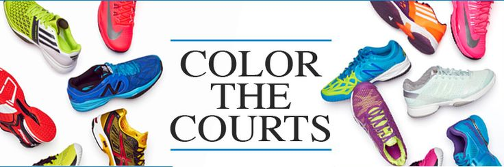 Color the courts with a pair of the latest tennis shoes!