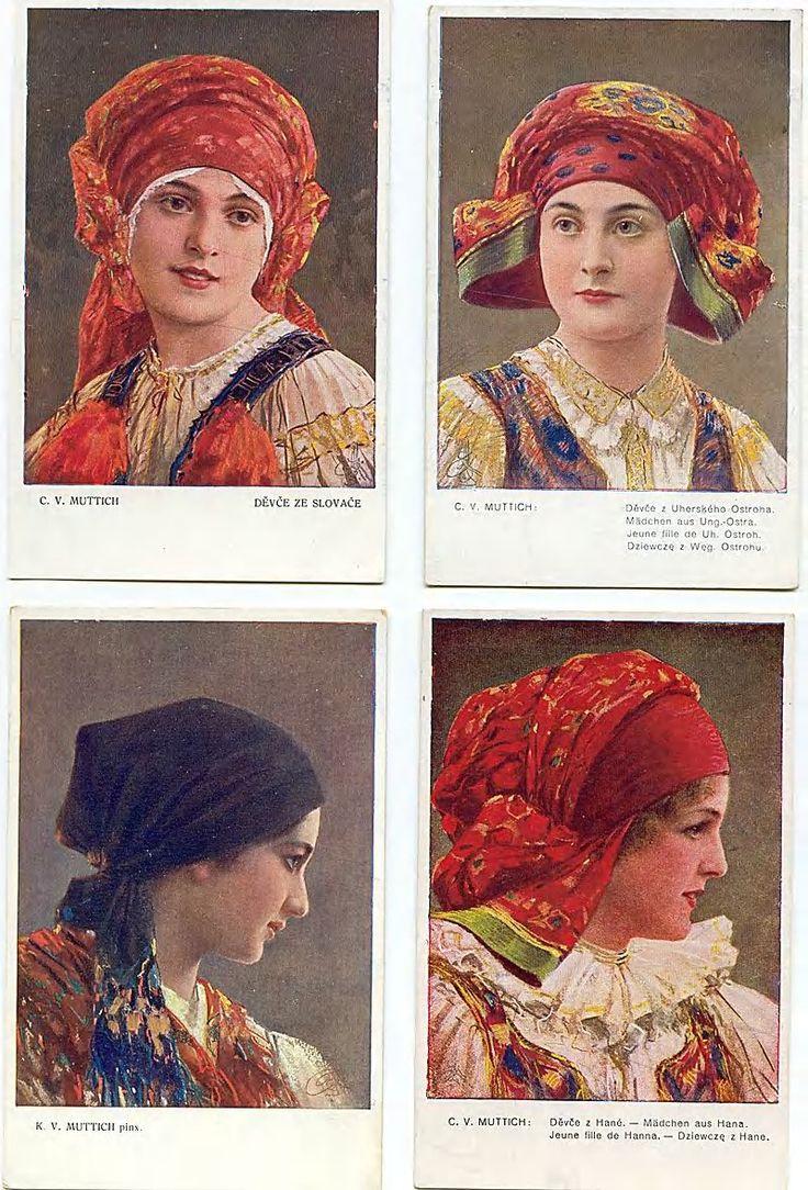Slovak traditional head wraps