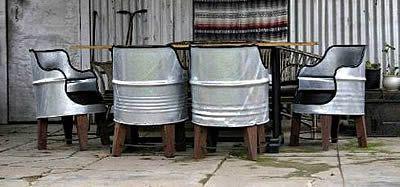 barrellchair Fauteuils fabriqués à partir de barils de pétrole
