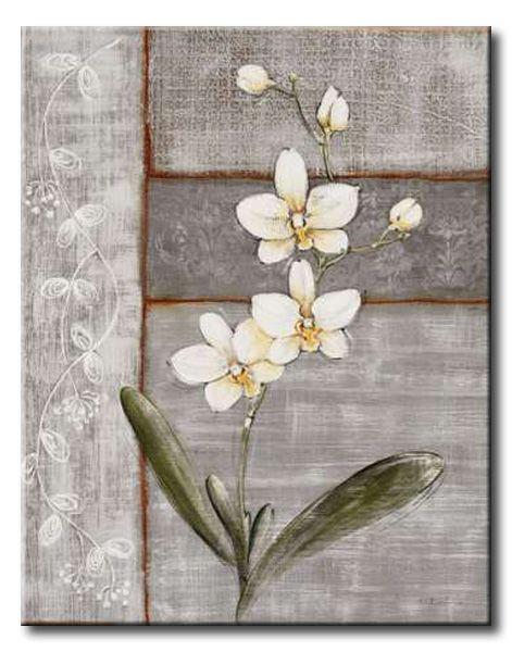 BRU_010_Orchid Shimmer I / Cuadro Flores Orquidea Vintage