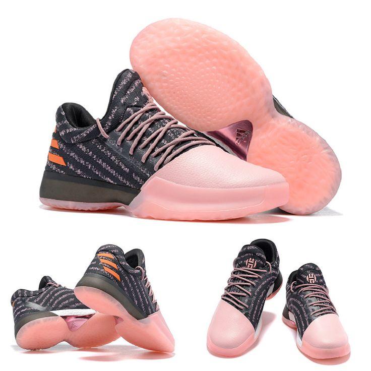B39494 Harden James Gila Monster adidas Harden Vol. 1 Black/Pink/Carnation/Orange Basketball Shoes