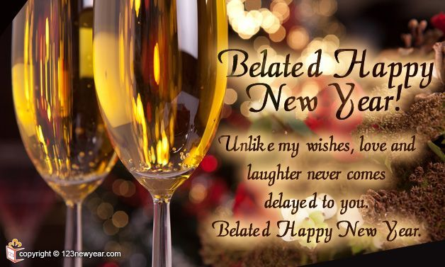 Belated New Year 2013 Greetings Cards