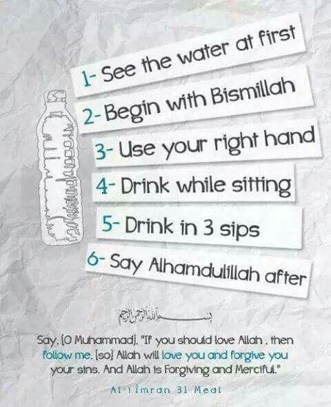 Water sunnah