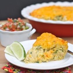 Chicken Quesadilla Pie by abitchinkitchen