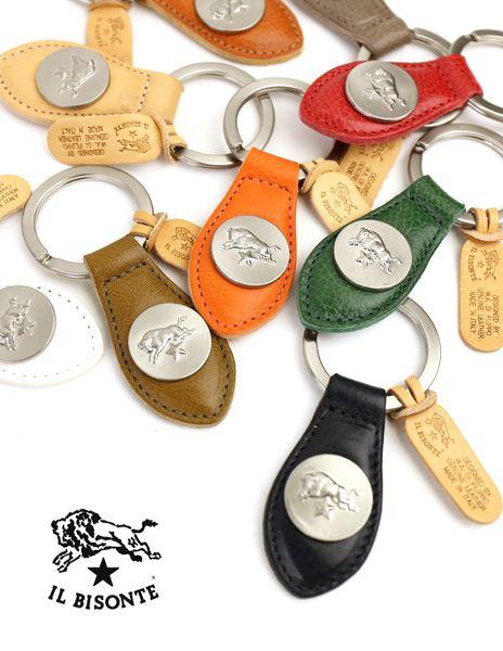 IL BISONTE(イルビゾンテ) レザー  コンチョ メダル付き  キーホルダー・5452305050  #ILBISONTE