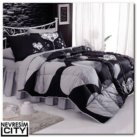 Kristal Amour uyku seti siyah modeli