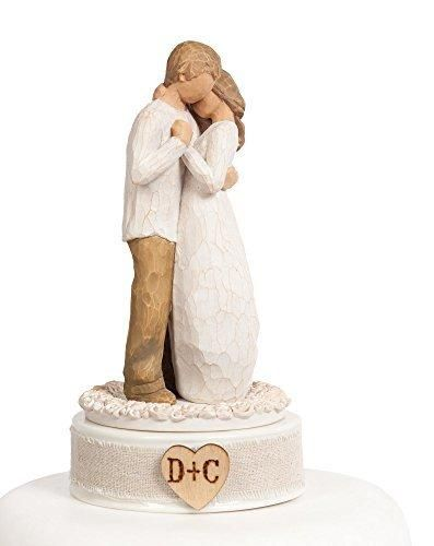 """Personalized Willow Tree  """"Promise"""" Wedding Cake Topper"""
