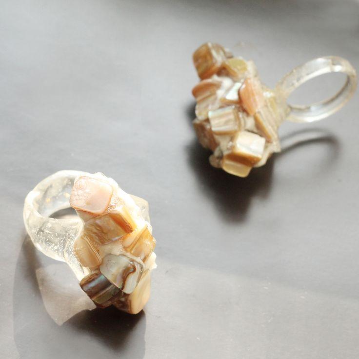 #pearl #ring #jewelry #resin #natashadea
