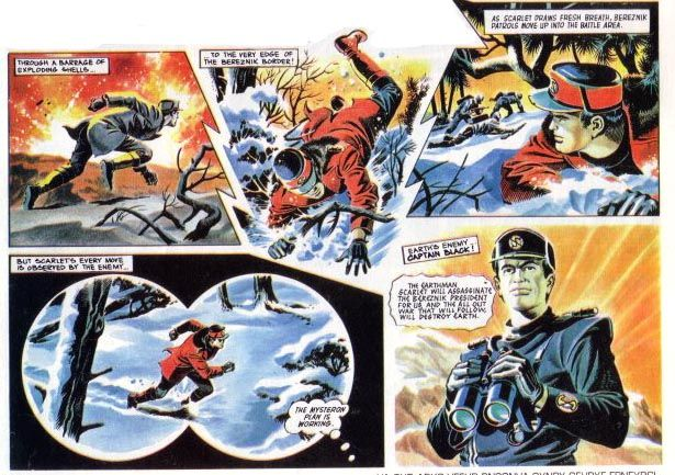 Captain Scarlet - Comic strip Drawn by Mike Noble - from TV21 comic 1967