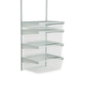 Closetmaid Shelftrack 4 Drawer Kit In White Closet