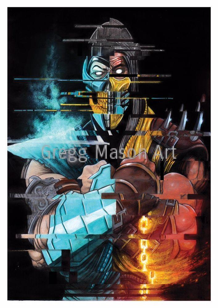 Mortal Kombat Sub-Zero/Scorpion A4 Print - Gregg Mason Art