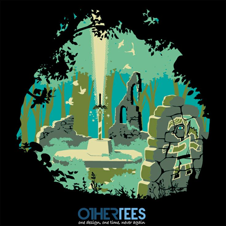 Between Two Worlds by Olipop Shirt on sale until 08 April on http://othertees.com #zelda Weekly free tee winners are now live at http://www.othertees.com/othertees/win_free_tees/ !