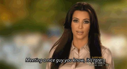 Pin for Later: 18 Times Kim Kardashian Got Surprisingly Real On men: But it can happen. Kim's wedding with Kanye West is proof. Source: E!