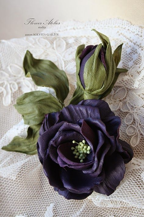 """Flower Atelier: """"Marija Antuanete"""" ādas ziediņa meistarklase"""