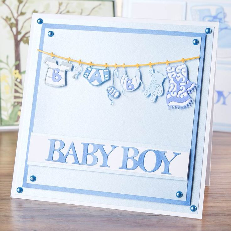 Gorgeous #NewBorn card made using @tatteredlaceuk Baby Boy Washing Line Die! Shop now: http://www.createandcraft.tv/Tattered_Lace_Baby_Boy_Washing_Line_Die-339104.aspx?fh_location=//CreateAndCraft/en_GB/$s=tattered%20lace%20little%20monsters #papercraft #cardmaking