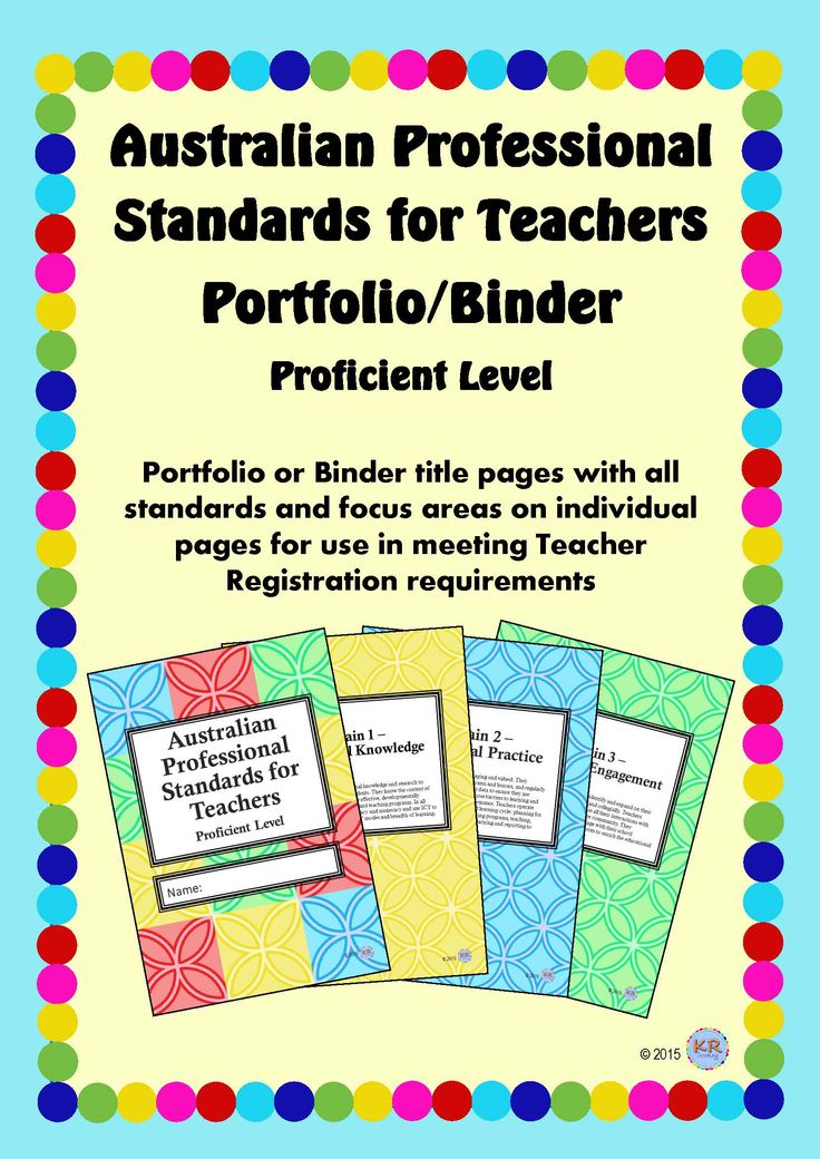 Proficient Teacher Level - Australian Professional Standards for Teachers Print Portfolio Binder by KR Learning