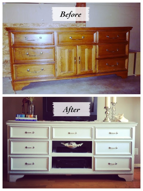 Going back in time... An Old Dresser Redo by Genevieve of Turned to Design