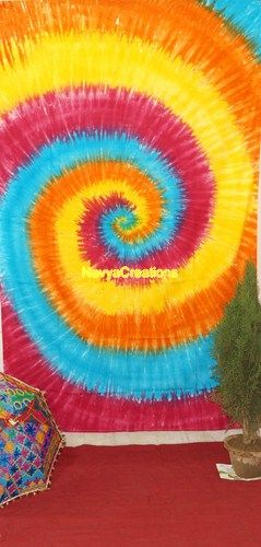Hippie Tie-Dye Multicolour Tapestry Wall Hanging Indian Twin Bedspread Ethnic .