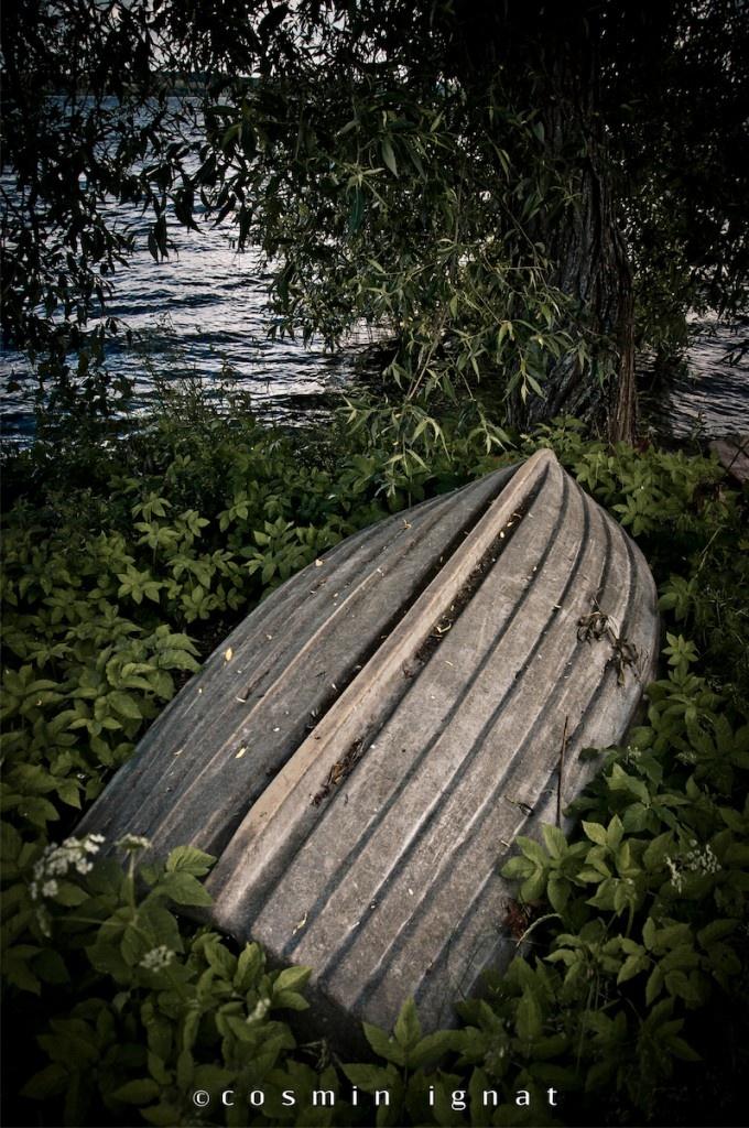 Retired wooden boat