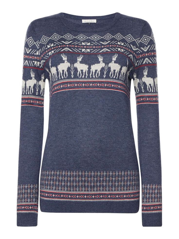 Buy your Maison De Nimes Festive Moose Christmas Jumper online now at House of Fraser. Why not Buy and Collect in-store?