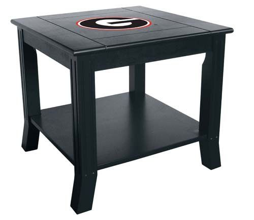 NCAA Georgia Bulldogs Side Table..and these will look nice next to the couch