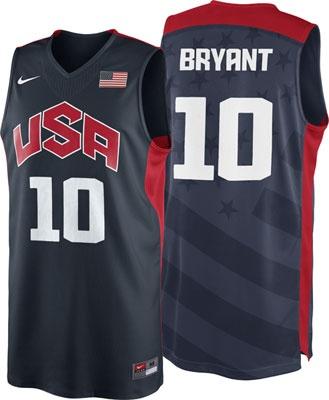 c3a02b17654 ... Dark Blue Stitched NBA Jersey Kobe Bryant 10 2012 Olympics Authentic  Jersey Nike Team USA Basketball Obsidian Nike Authentic Jersey Sports ...