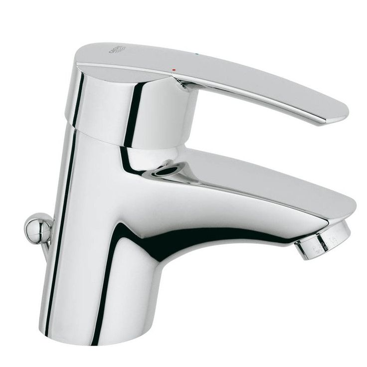 Photo Of Shop Grohe Start Starlight Chrome Handle Single Hole WaterSense Bathroom Sink Faucet Drain Included at Lowe us Canada