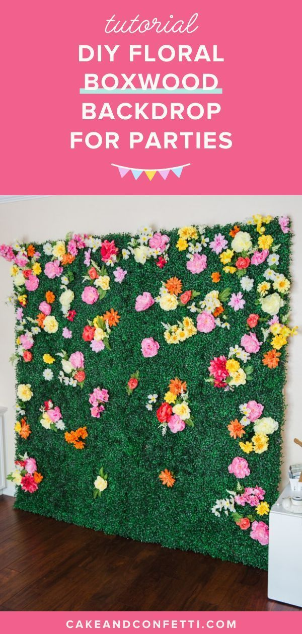 How To Make A Boxwood Backdrop Flower Wall Backdrop Diy Photo