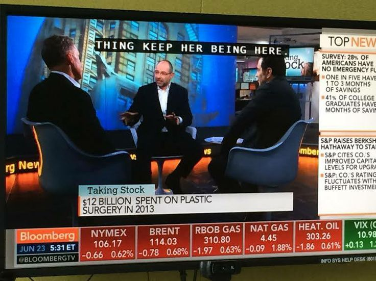Yesterday on Bloomberg Television with Dr. Dubrow!