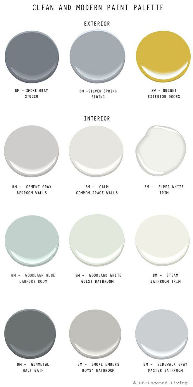860 best images about wall colors on pinterest revere for Gray exterior paint colors