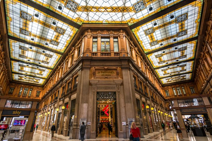 The beautiful Galleria Alberto Sordi in Rome, Italy.  Even the shopping centres are stylish here.