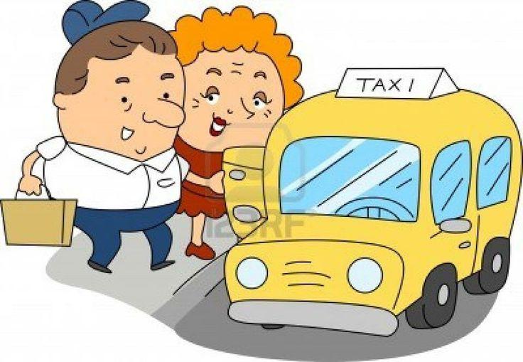 Pareja en taxi
