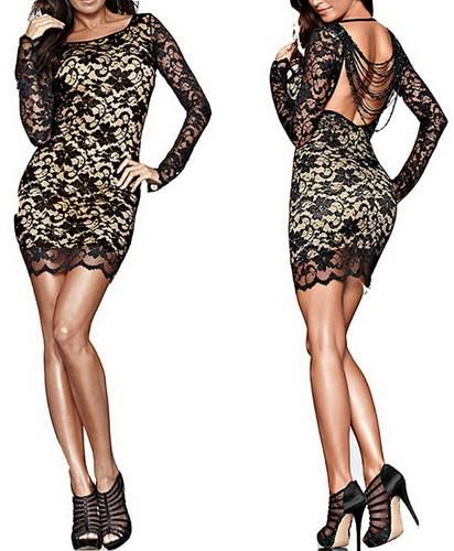 Sexy Lace Beaded Halter Mini Dress . Click to Purchase . #sexy #dress #fashion #lace