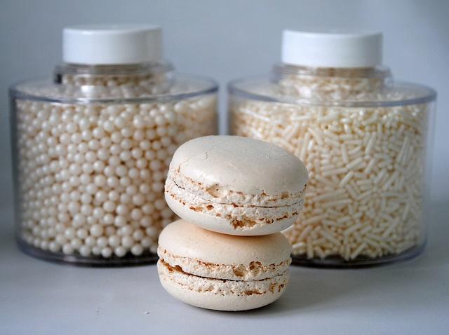Winter white macarons & sprinkles
