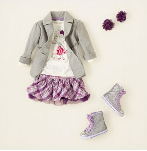 Children's Place Girls Shirt, blazer, & plaid skirt. Aaliyah would love this outfit!