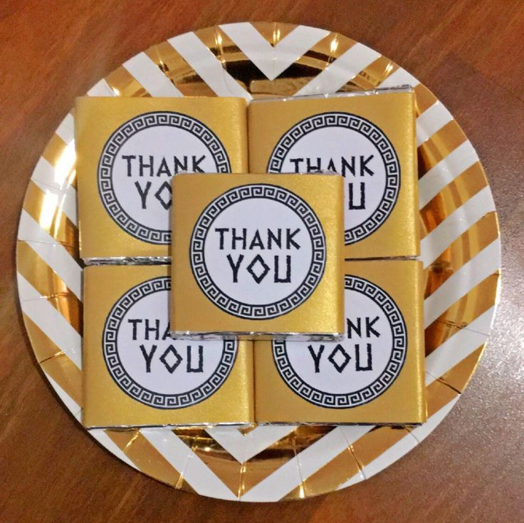 Ancient Greek themed party favour!  - Thank You Chocolates!