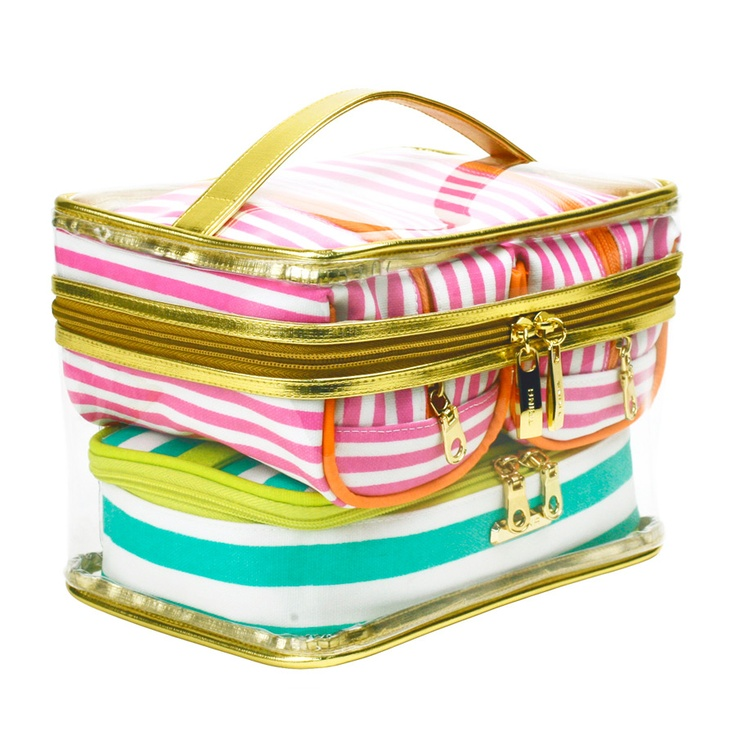 Trina Piece Train Case Beauty Bags